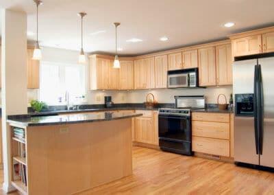 light wood kitchen renovation