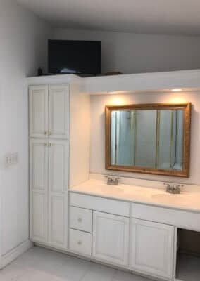 double vanity 2 before