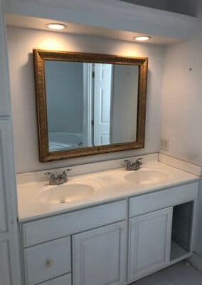 double vanity before